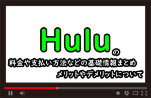 Hulu(フールー)の料金や支払い方法などの基礎情報まとめ、メリットやデメリットについてのアイキャッチ画像