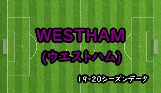 【ウェストハム】19-20シーズンクラブデータ/選手リスト/移籍情報